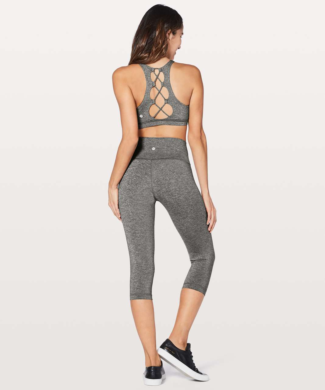 Lululemon Tied To It Bra - Heathered Black