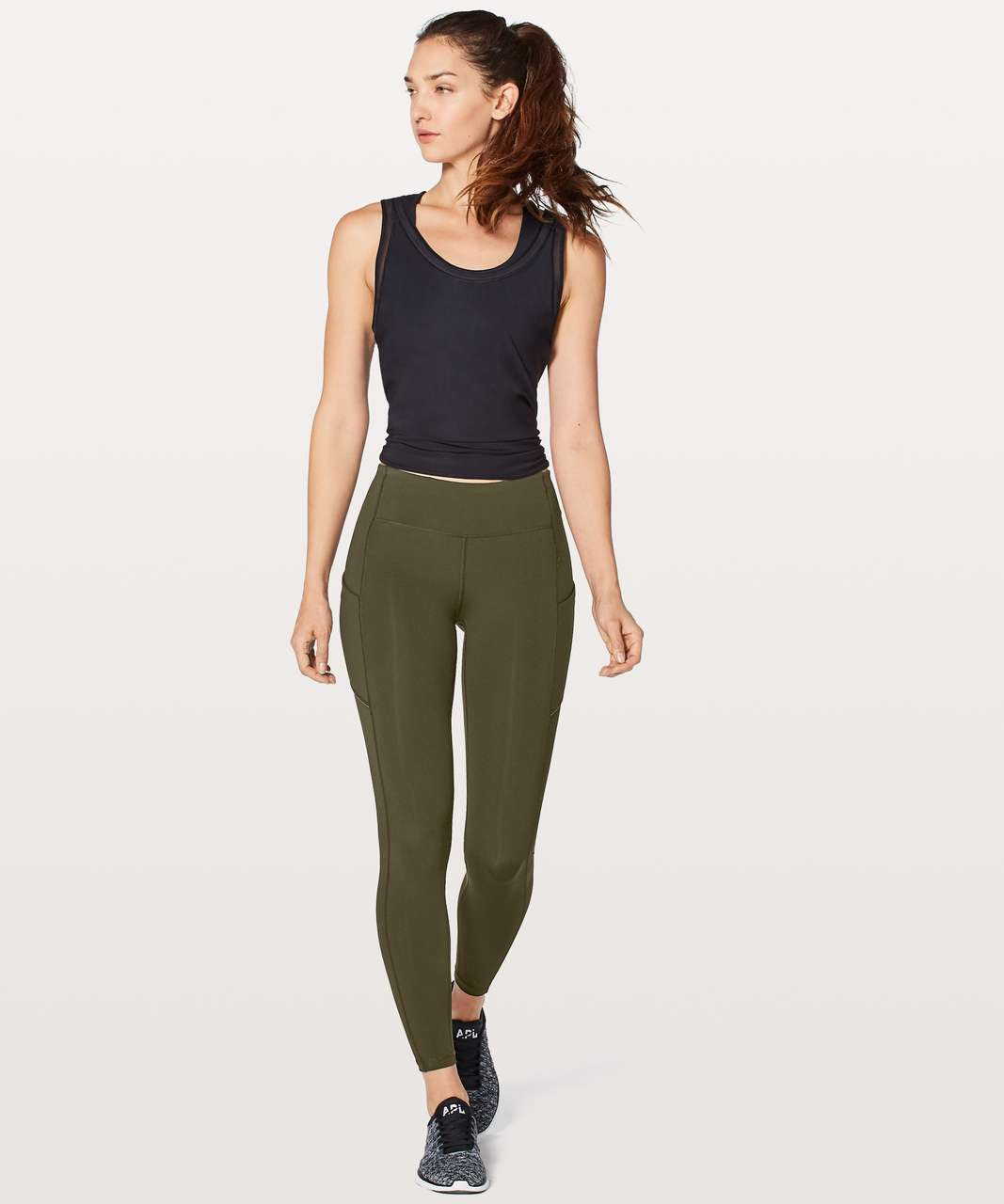 "Lululemon Speed Up Tight DWR 28"" - Dark Olive"