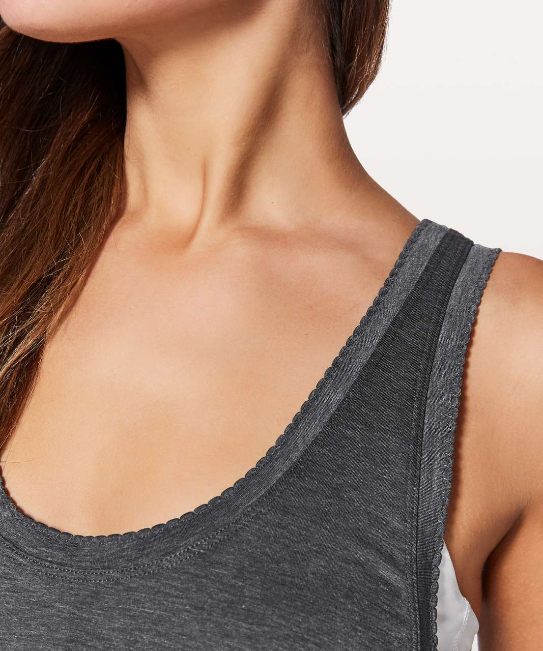 Lululemon Tied To It Tank - Heathered Black
