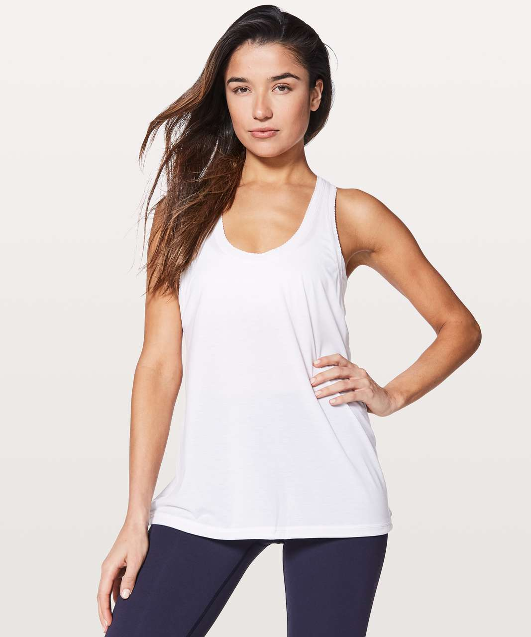 Lululemon Tied To It Tank - Heathered White