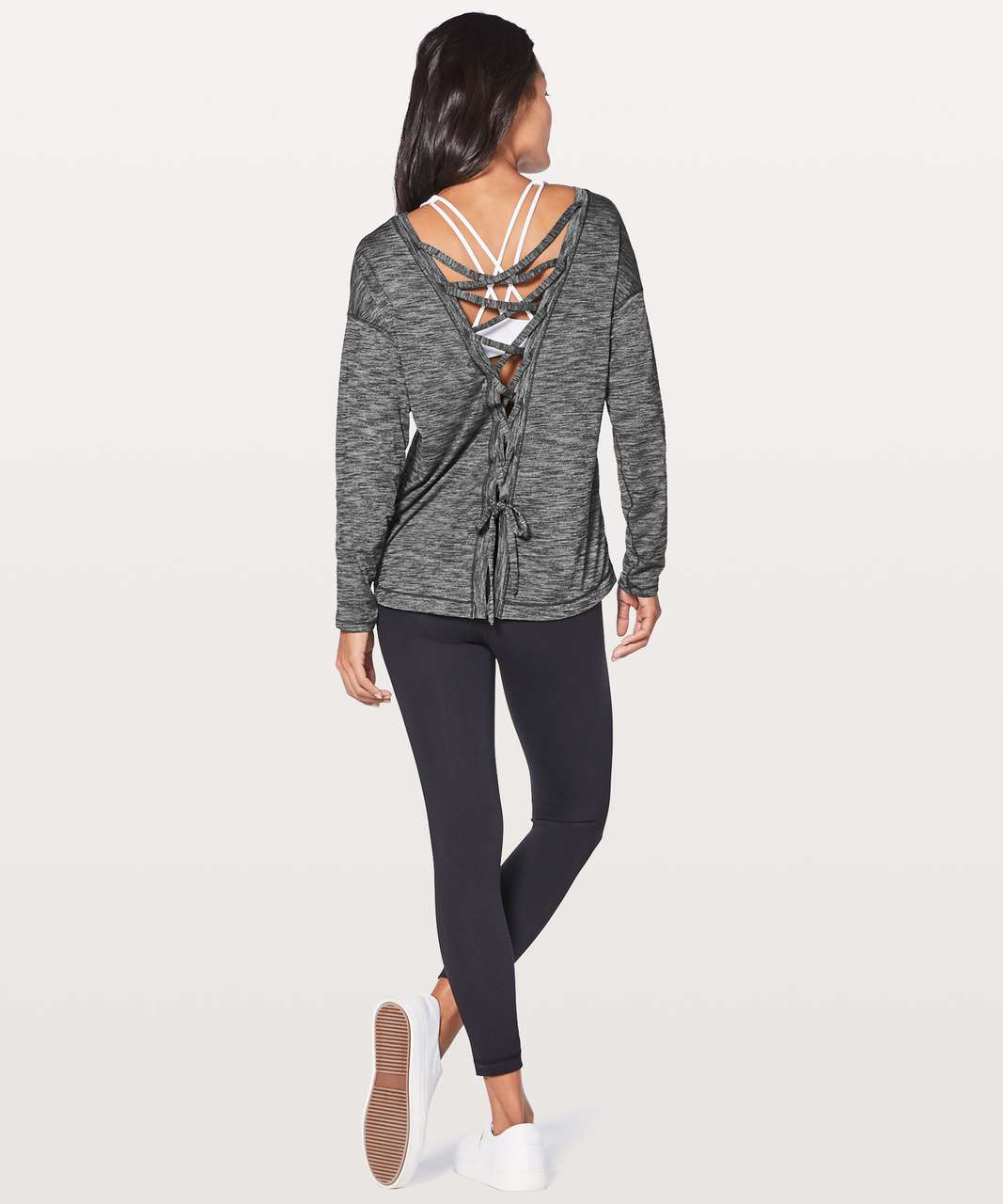 Lululemon Laced With Intent Long Sleeve - Heathered Black