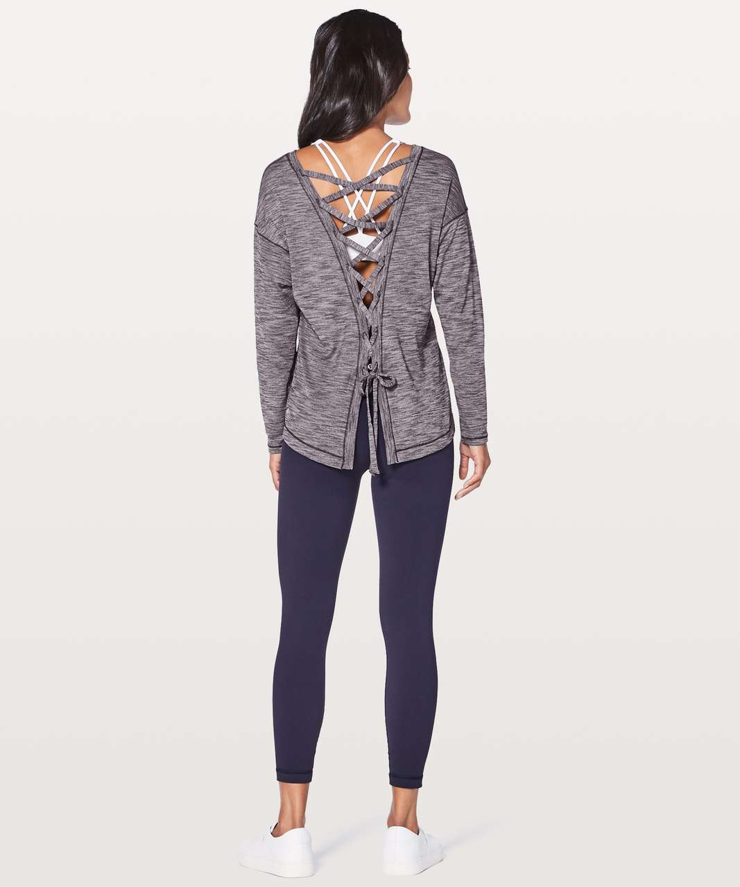9bb6a82783 Lululemon Laced With Intent Long Sleeve - Heathered Black Grape ...
