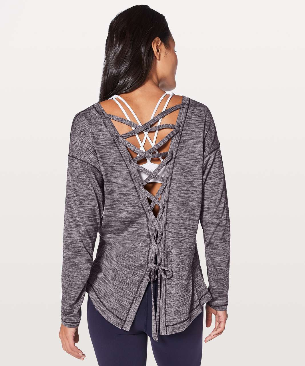 Lululemon Laced With Intent Long Sleeve - Heathered Black Grape