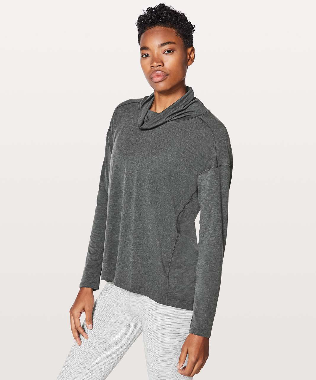 Lululemon See You In Savasana Long Sleeve - Heathered Deep Coal