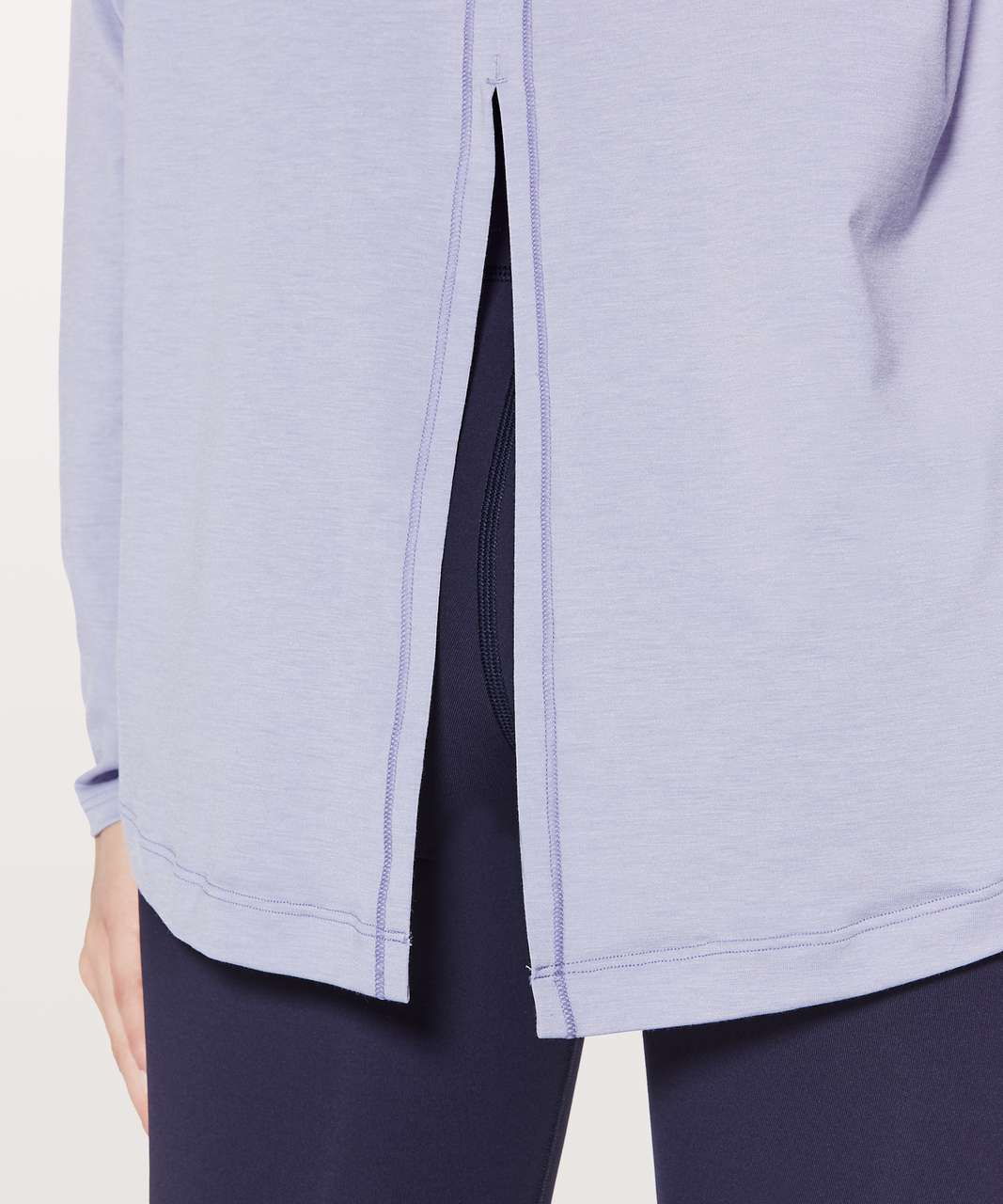 Lululemon See You In Savasana Long Sleeve - Heathered Misty Moon