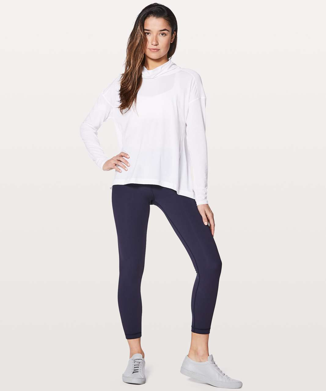 Lululemon See You In Savasana Long Sleeve - Heathered White