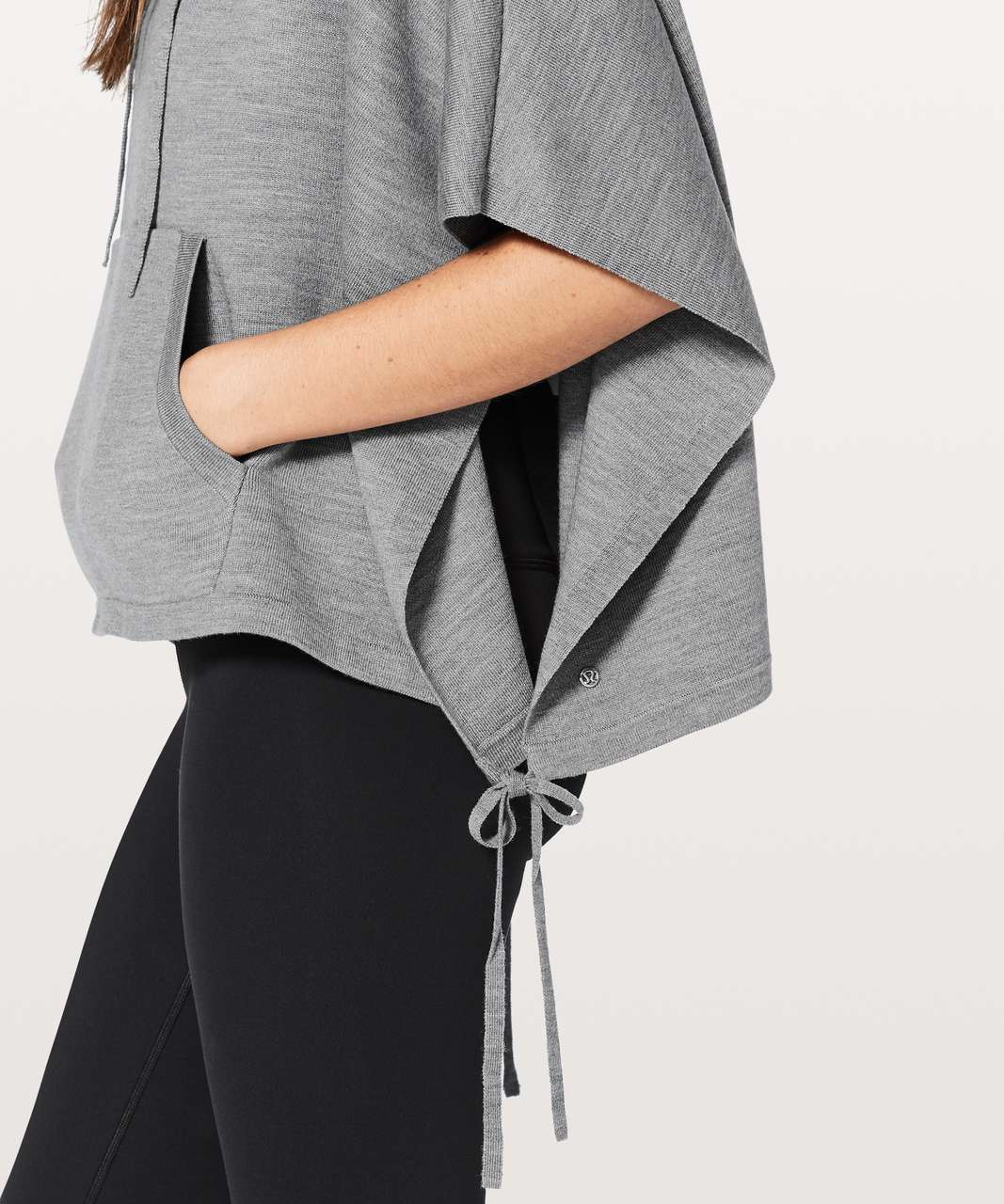 Lululemon All In A Day Hooded Poncho - Heathered Core Medium Grey