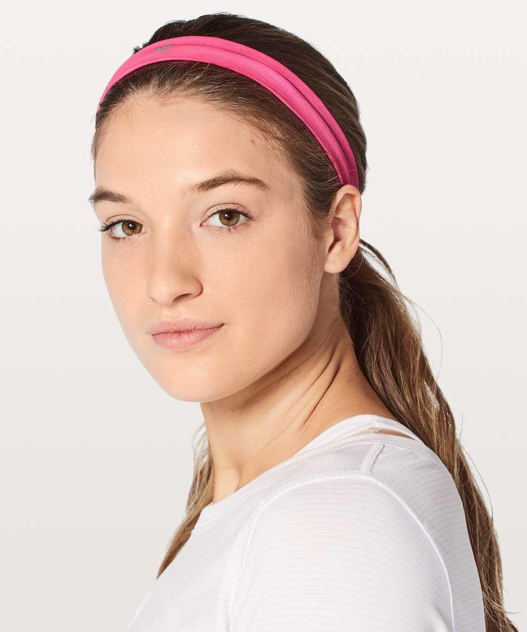 Lululemon Cardio Cross Trainer Headband - Neon Pink / White