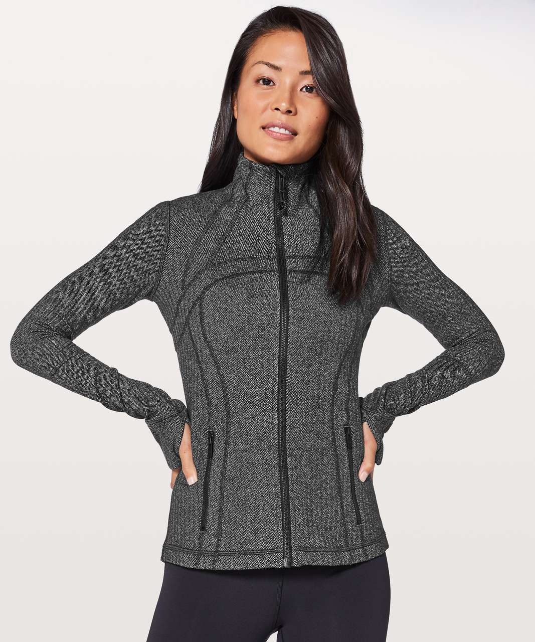 Lululemon Define Jacket - Heathered Herringbone Heathered Black Black