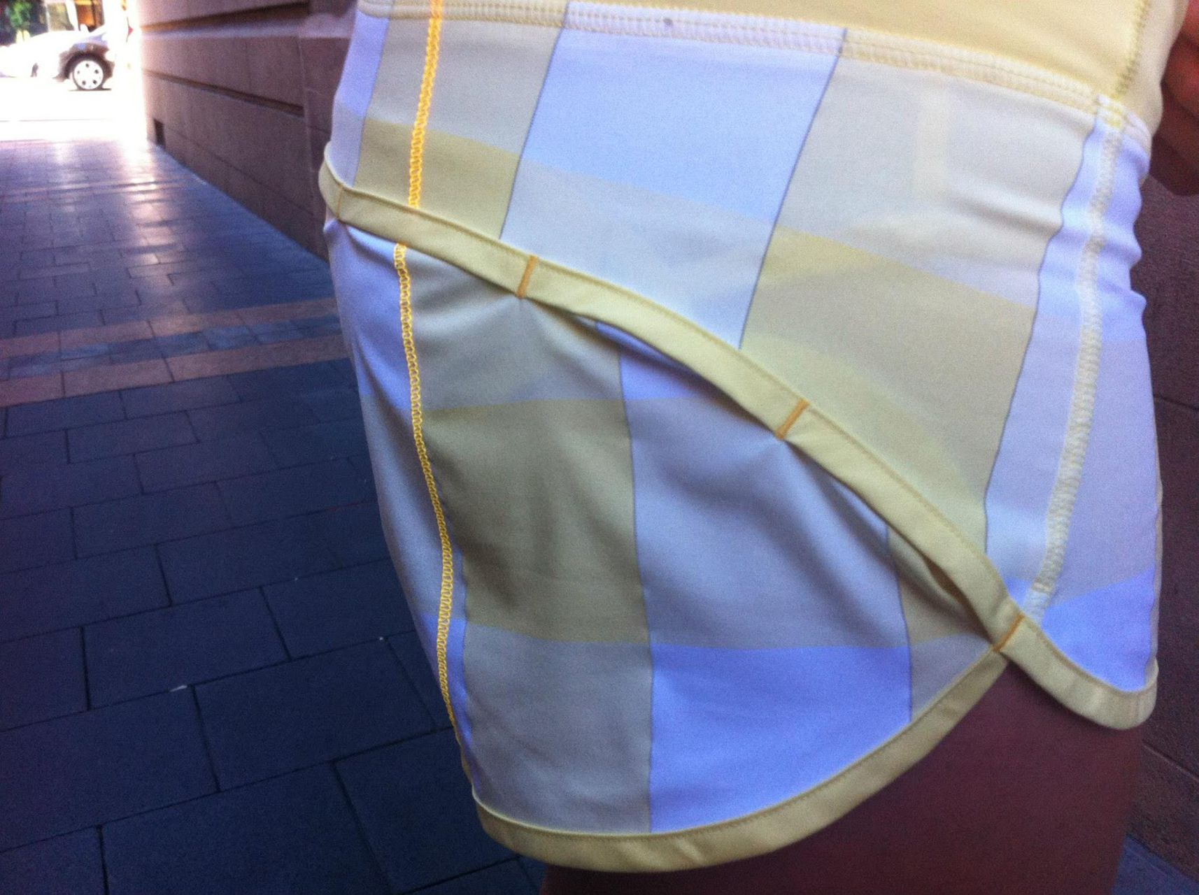 Lululemon Run:  Speed Short - Gros Gingham Mellow Lemon / Mellow Lemon / Burning Yellow