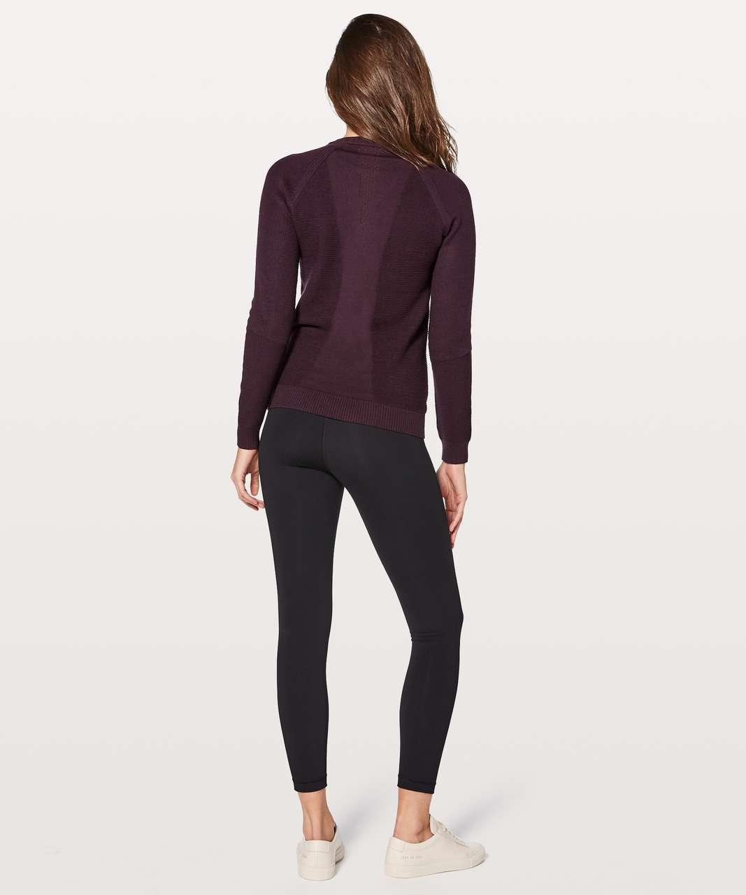 Lululemon Simply Wool Sweater - Black Cherry