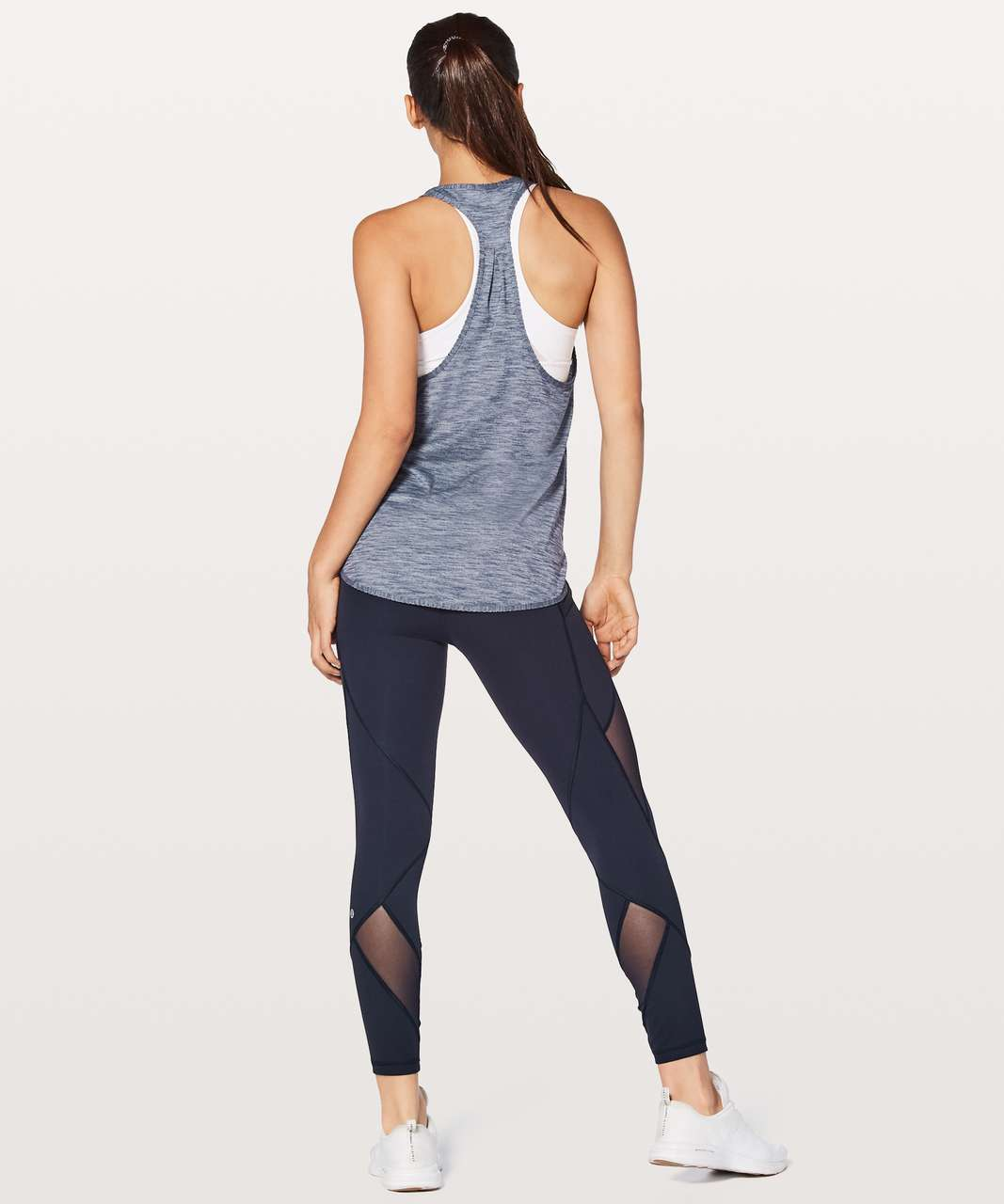 Lululemon 105 F Singlet - Heathered Shadow Blue