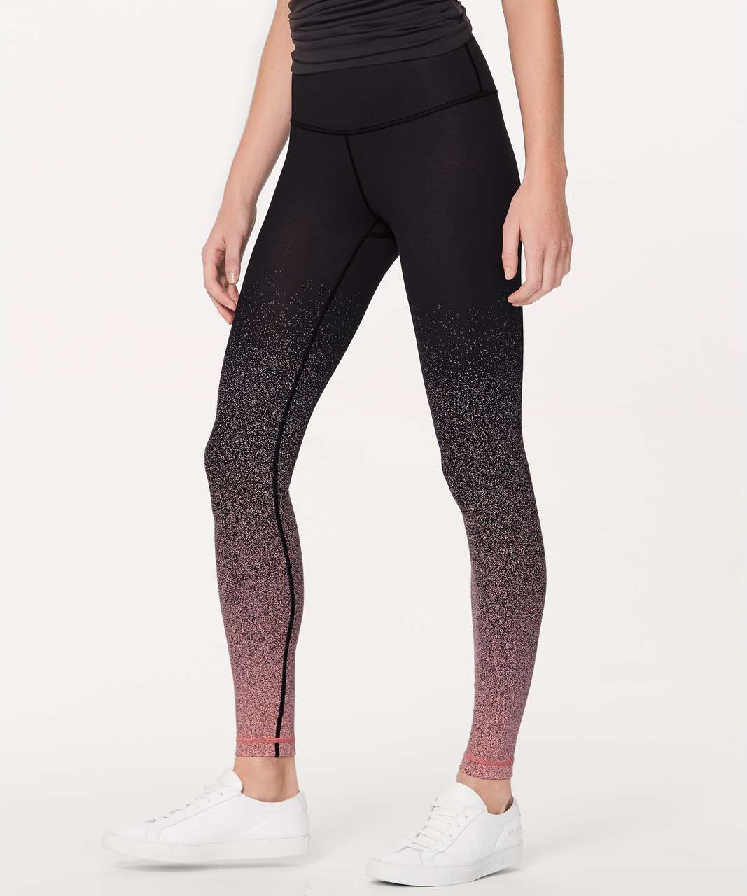 "Lululemon Wunder Under Hi-Rise Tight (Ombre Speckle) 28"" - Ombre Speckle Stop Jacquard Luon Black Yum Yum Pink"