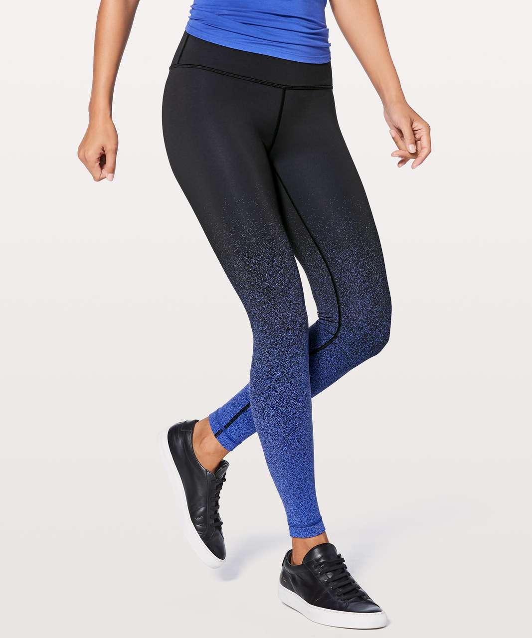 "Lululemon Wunder Under Hi-Rise Tight (Ombre Speckle) 28"" - Ombre Speckle Stop Jacquard Luon Black Blazer Blue"