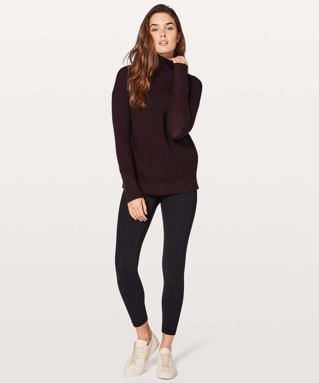 Lululemon Warm & Restore Sweater - Black Cherry
