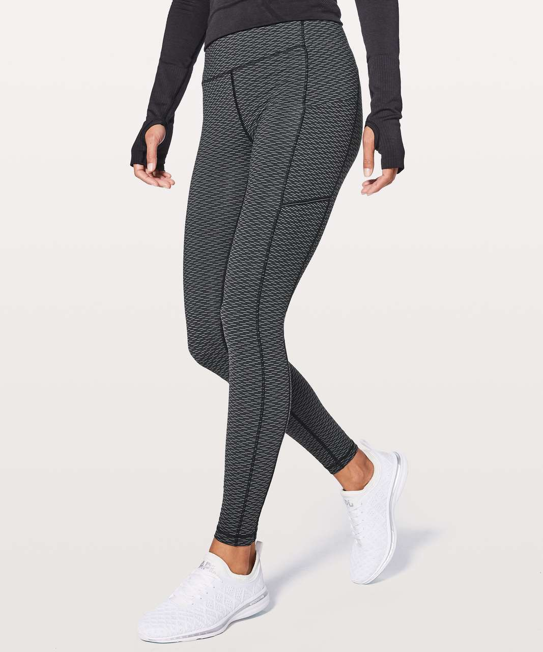 "Lululemon Speed Up Tight 28"" - Score Jacquard Black Luna"