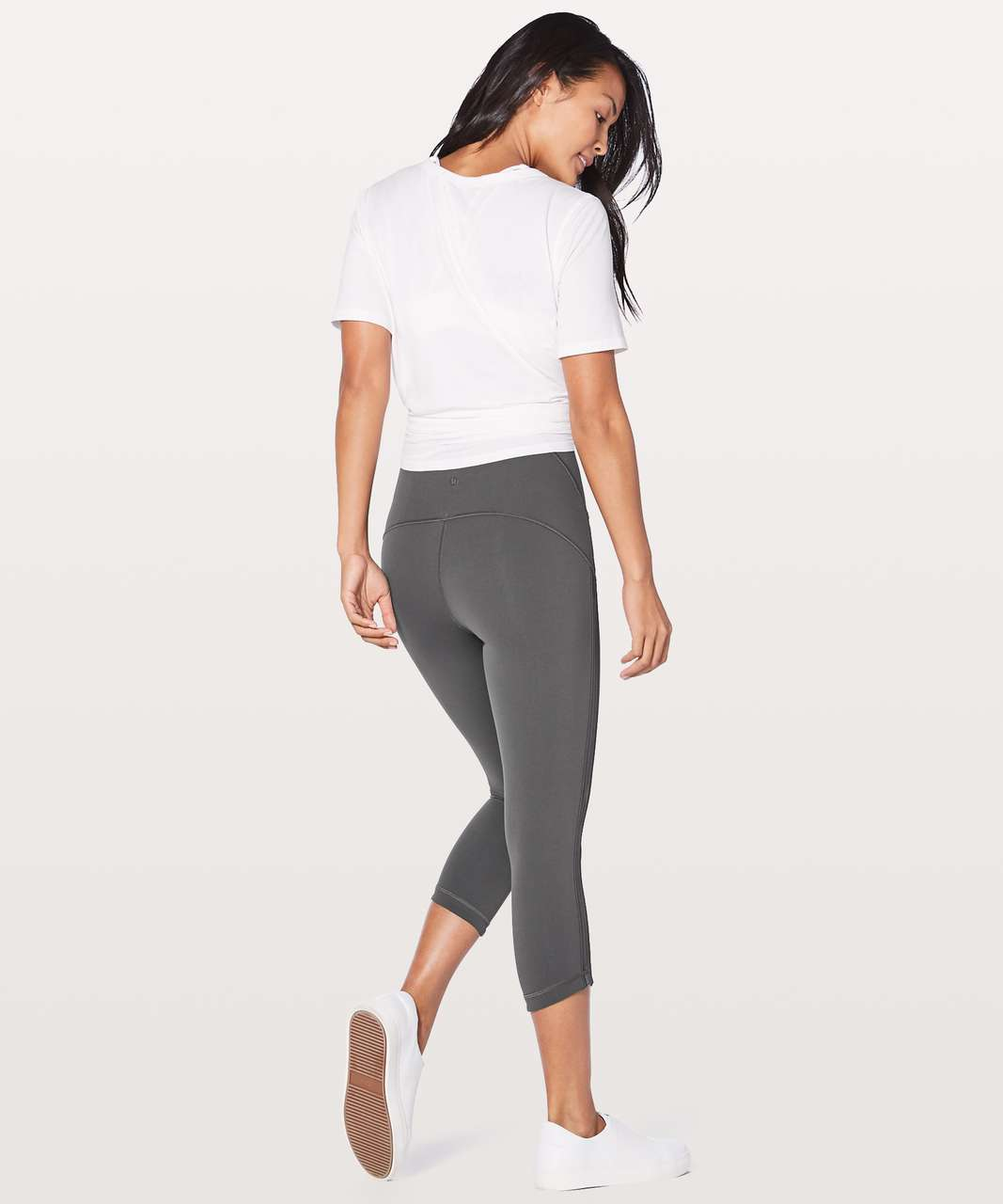"Lululemon Wunder Under Crop (Hi-Rise) Awaken Full-On Luxtreme 21"" - Dark Shadow"