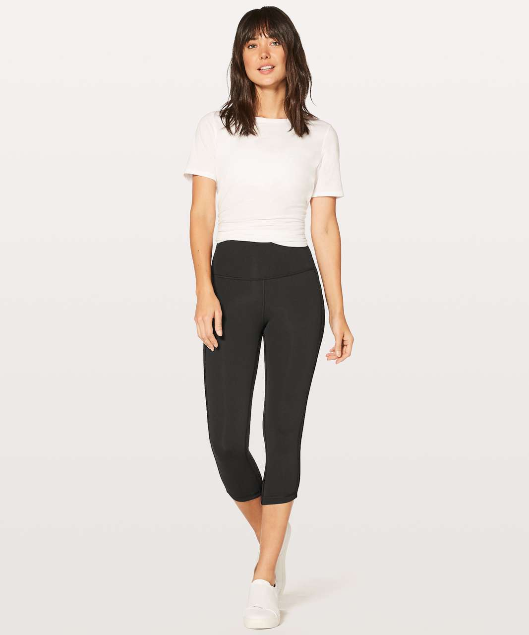 "Lululemon Wunder Under Crop (Hi-Rise) Awaken Full-On Luxtreme 21"" - Black"