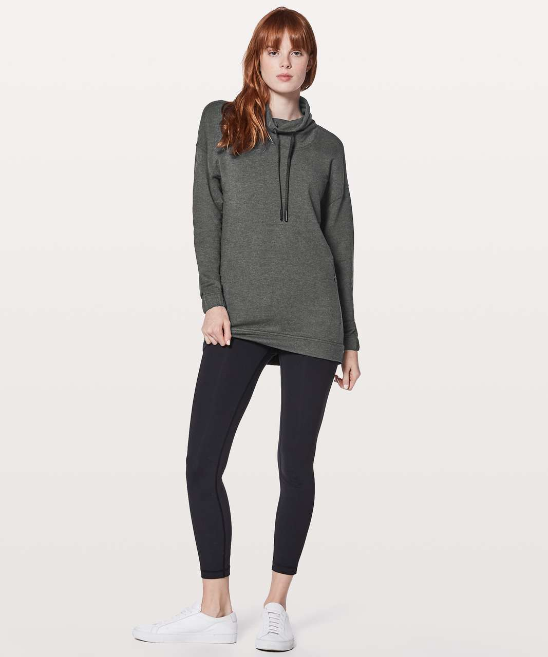 Lululemon Twisted & Tucked Long Sleeve - Heathered Mod Black