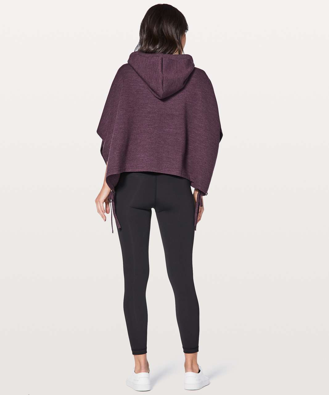 Lululemon All In A Day Hooded Poncho - Heathered Black Cherry
