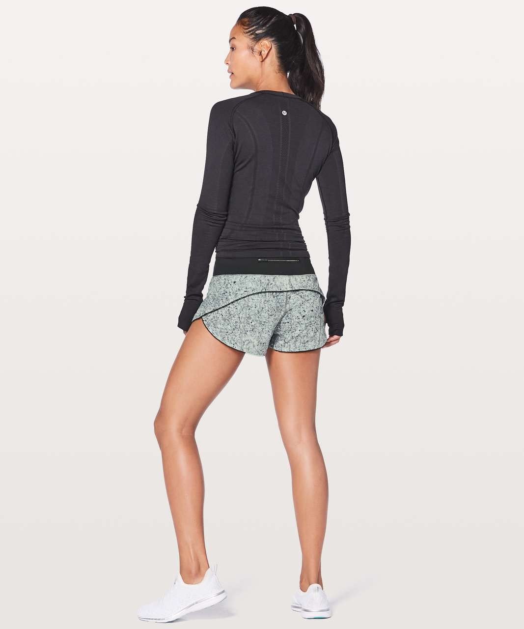 "Lululemon Speed Up Short Awaken 2.5"" - Antiqued Starlight Black / Black"