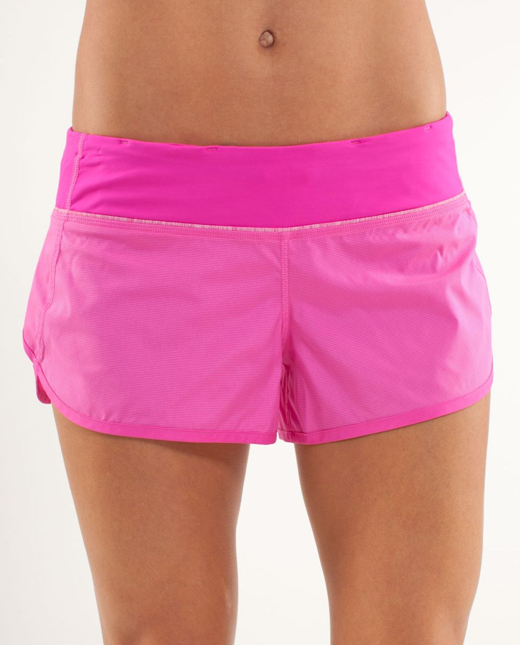 Lululemon Run:  Speed Short - Paris Pink White Microstripe /  Paris Pink