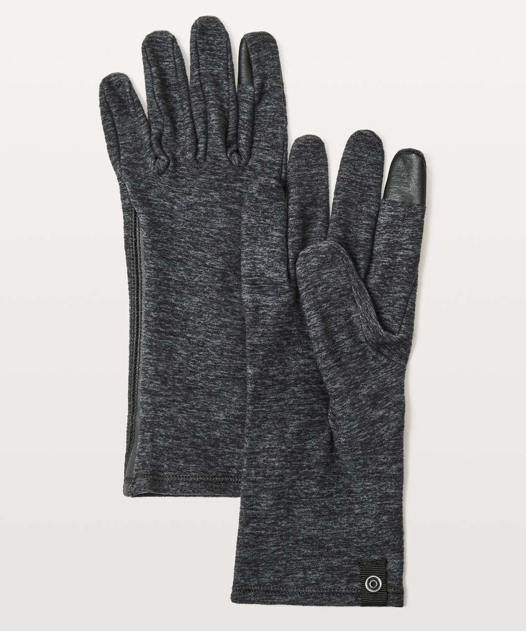 Lululemon Run It Out Gloves - Heathered Dark Cast / Black