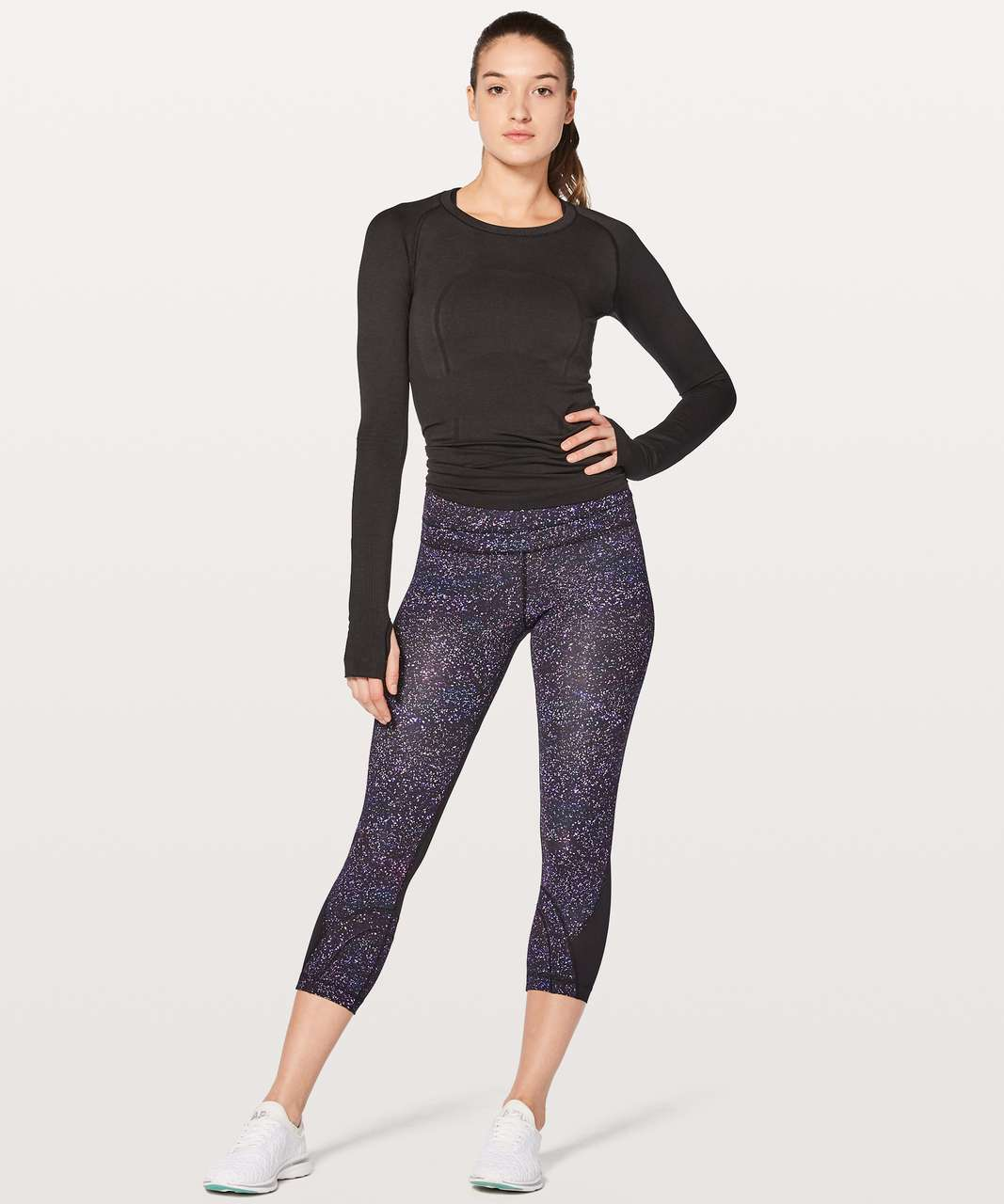 Lululemon Inspire Crop II - Crystalline Multi / Black