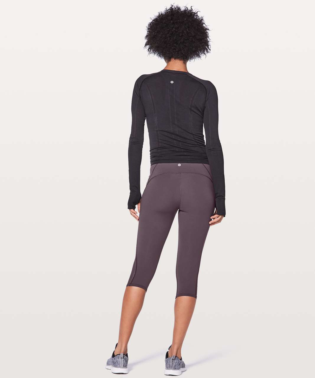 "Lululemon Train Times Crop 17"" - Black Currant"