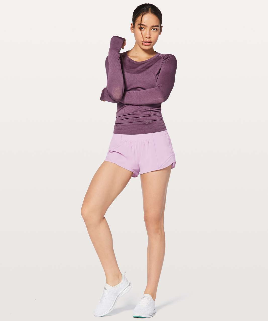 "Lululemon Hotty Hot Short II 2.5"" - Lilac Quartz"