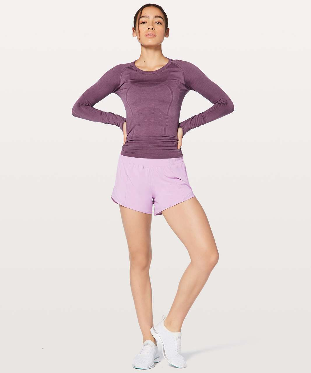 "Lululemon Hotty Hot Short II Long 4"" - Lilac Quartz"