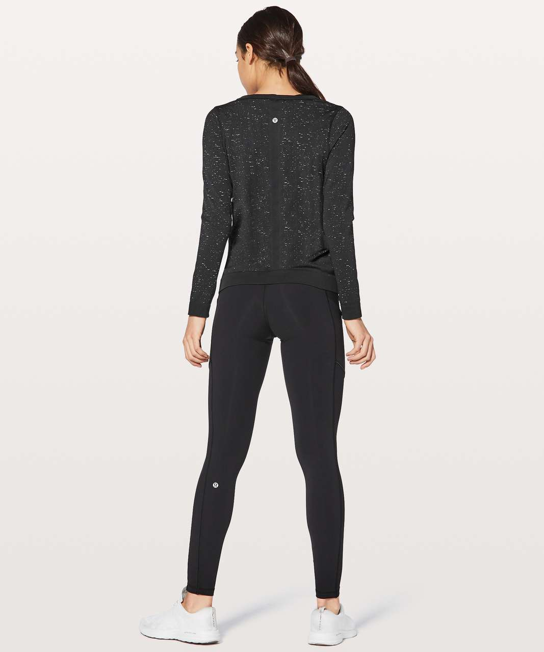 Lululemon Swiftly Tech Long Sleeve (Breeze) *Relaxed Fit - White / Black
