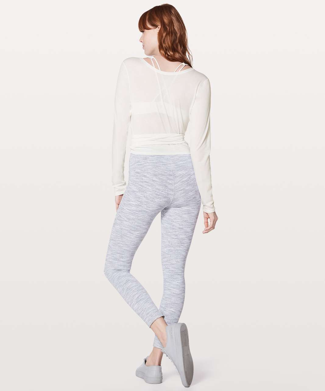 Lululemon Tied To It Wrap - Heathered White
