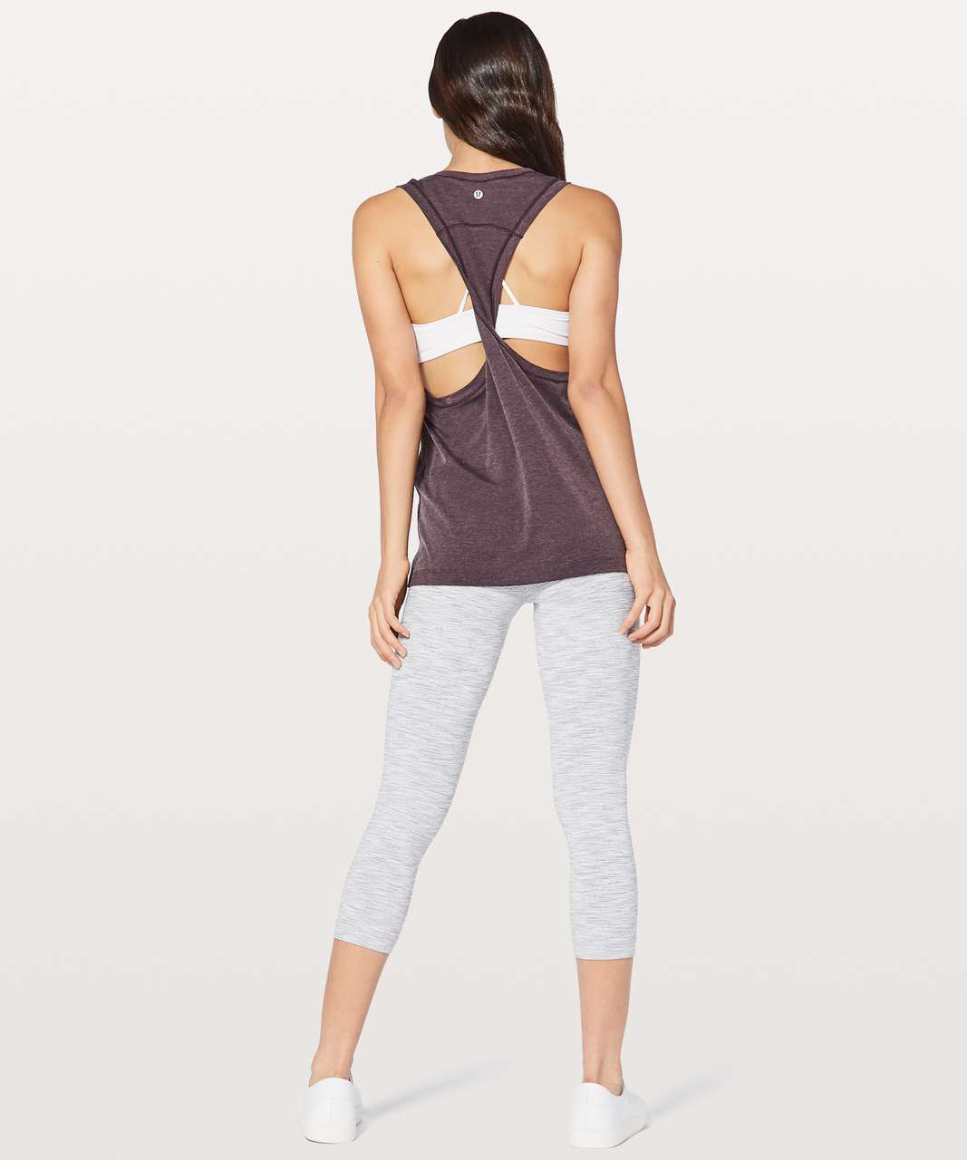 Lululemon See You In Savasana Tank - Heathered Black Cherry