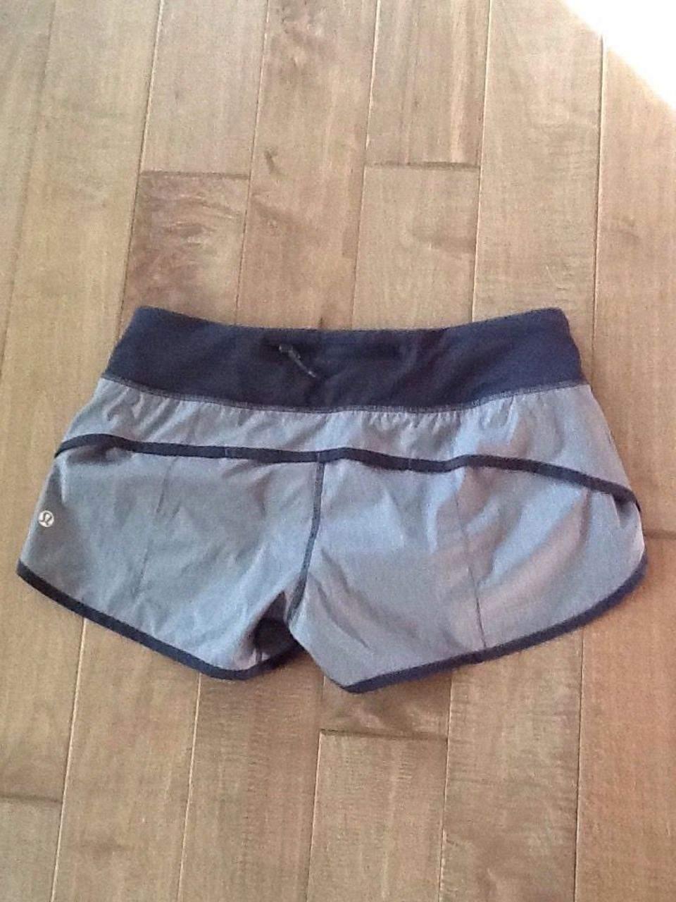 Lululemon Run:  Speed Short *4-way Stretch - Heathered Slate / Deep Coal