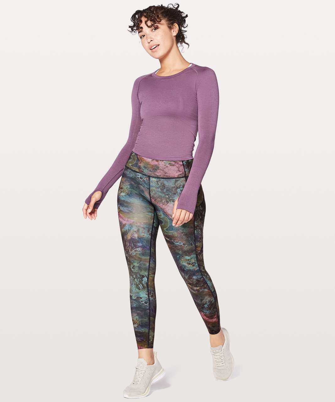 "Lululemon Fast & Free 7/8 Tight II *Nulux 25"" - Radiant Multi"