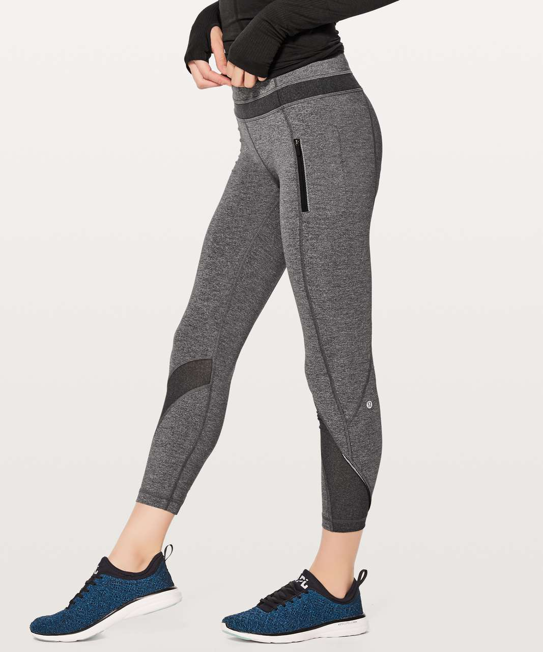 614375f5f1 Lululemon Inspire Tight II - Heathered Black / Black - lulu fanatics