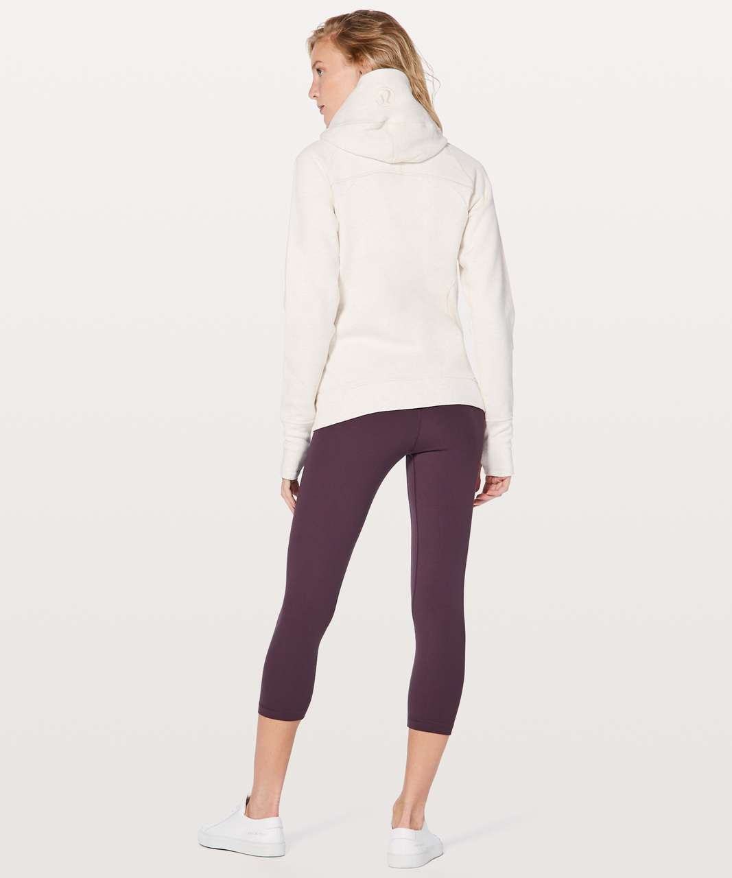 Lululemon Scuba Hoodie Classic Cotton Fleece - Heathered Angel White / Angel Wing