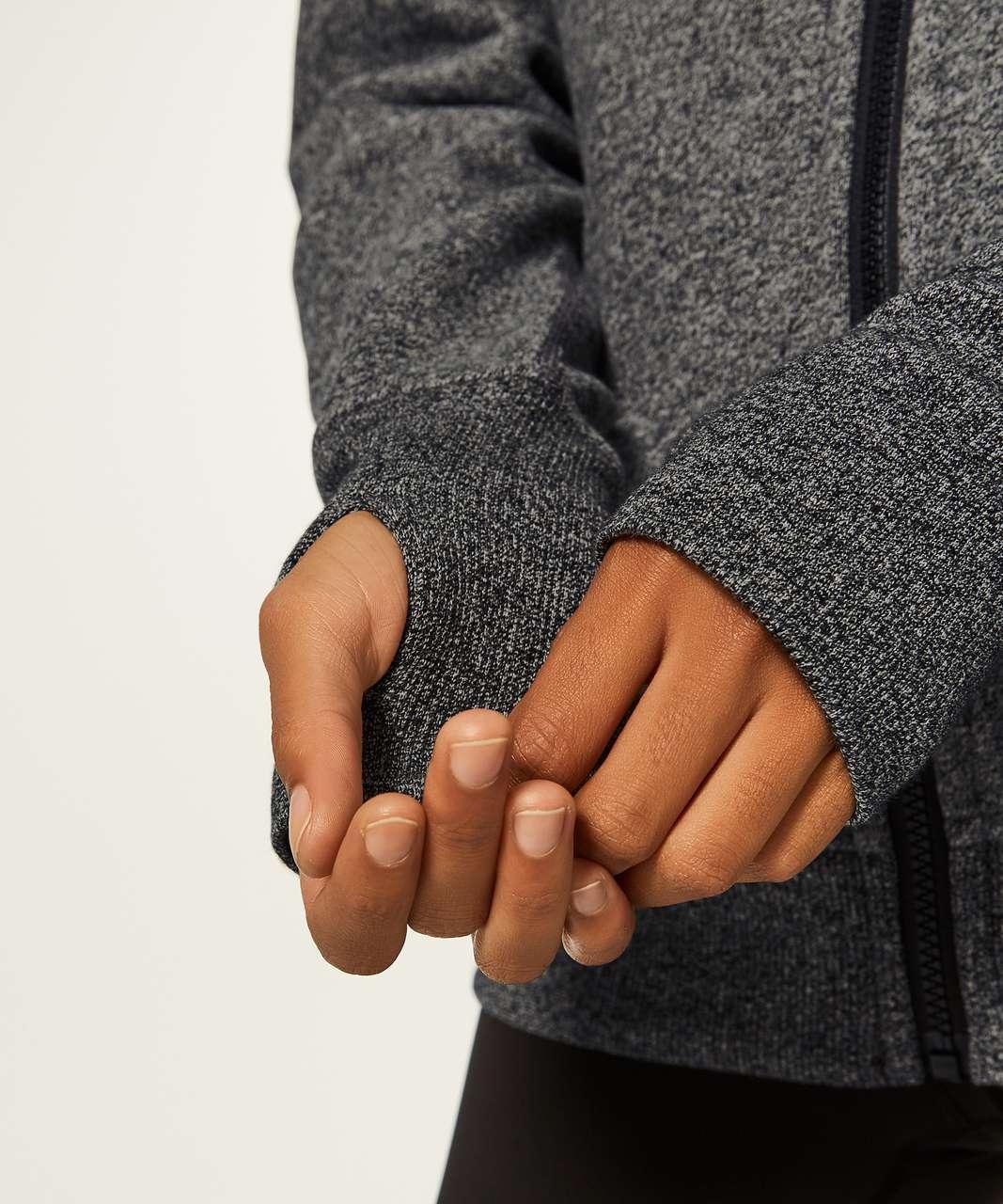 Lululemon Scuba Hoodie Classic Cotton Fleece - Heathered Speckled Black / Black