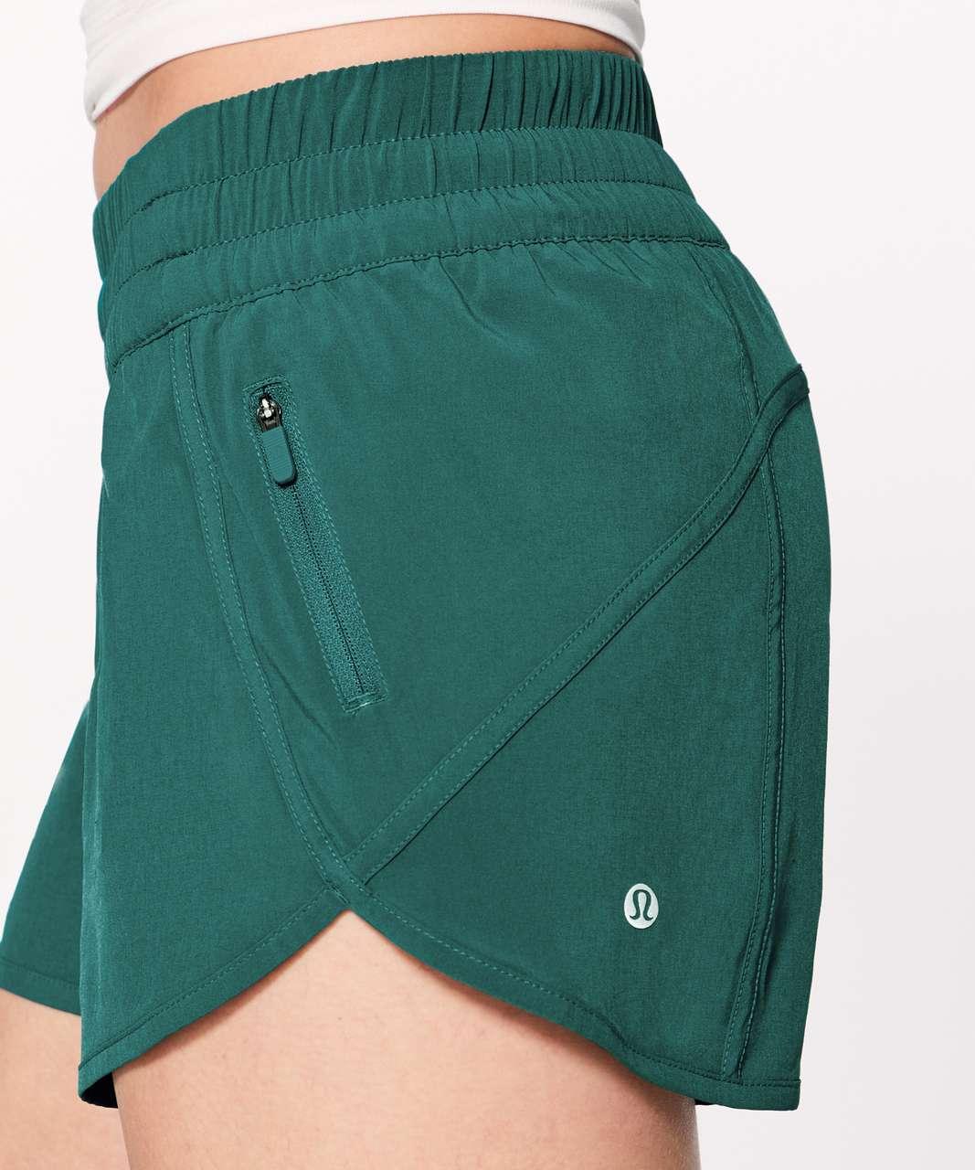 """Lululemon Tracker Short V *4"""" - Teal Green"""