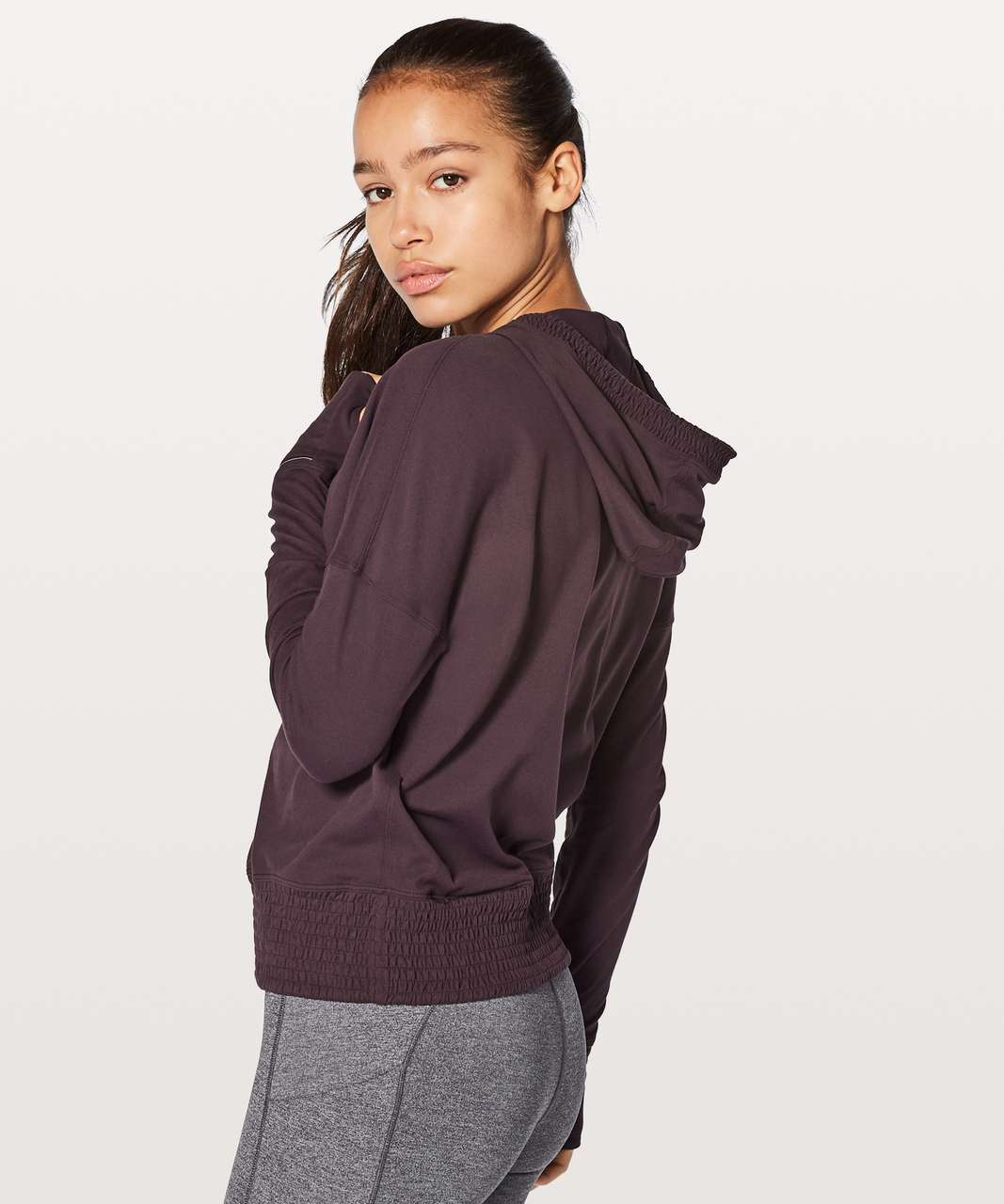 Lululemon Lead The Pack Hoodie - Black Cherry
