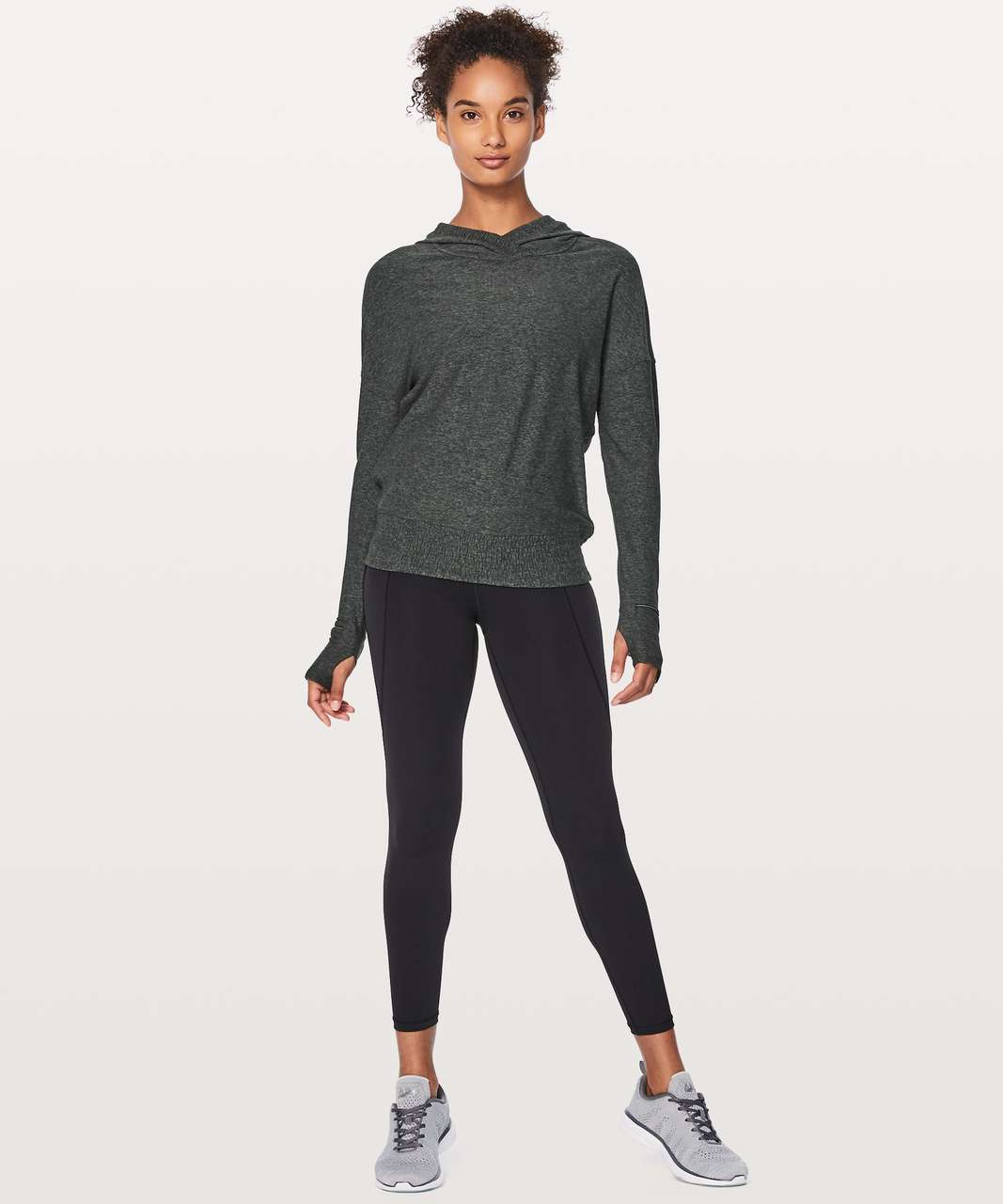 Lululemon Lead The Pack Hoodie - Heathered Dark Cast / Black
