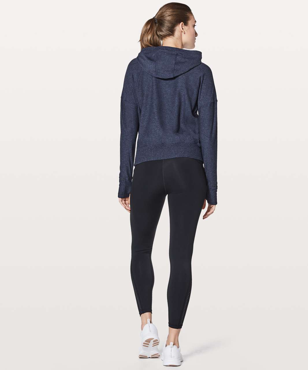 Lululemon Lead The Pack Hoodie - Heathered Stony Grape / Black