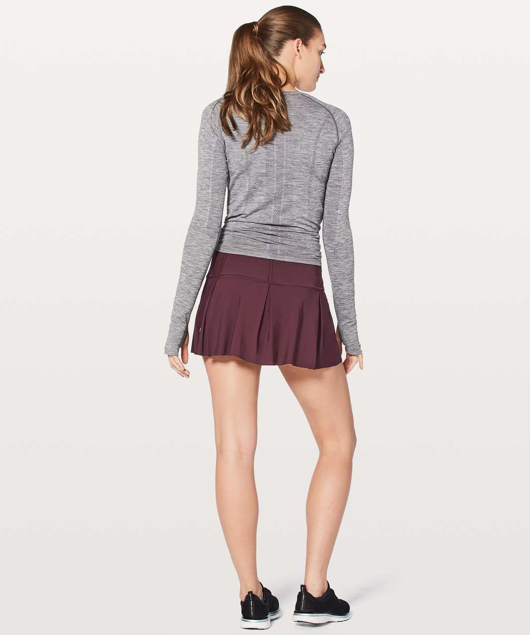 "Lululemon Lost In Pace Skirt (Regular) 13"" - Dark Adobe"