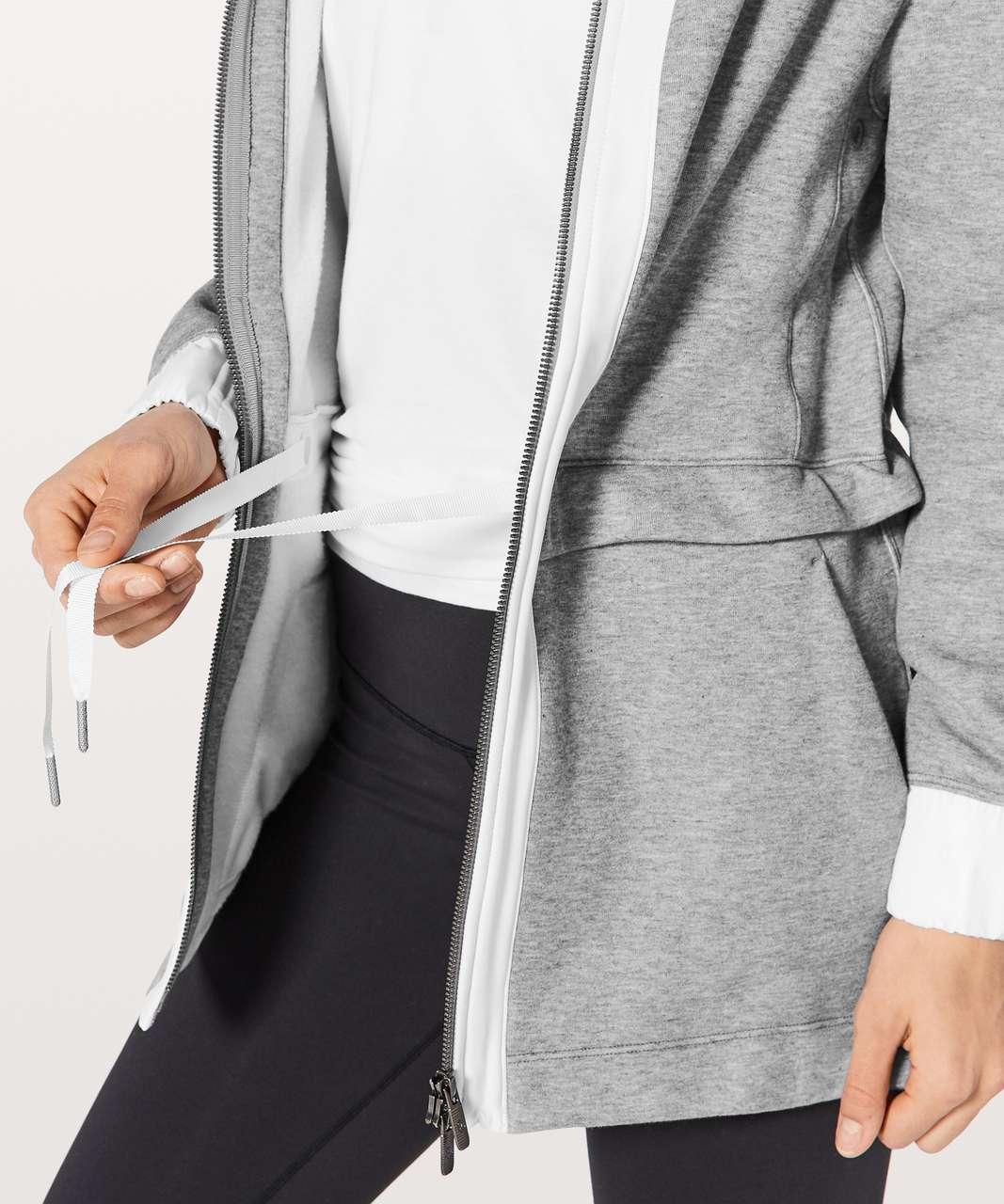 Lululemon Light As Warmth Jacket - Heathered Medium Grey / White