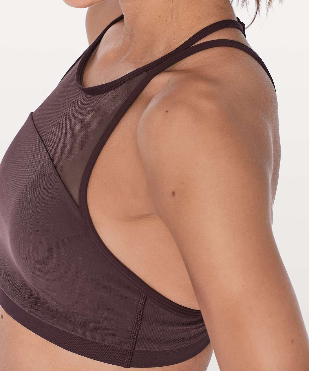 Lululemon Get Set Bra - Black Cherry