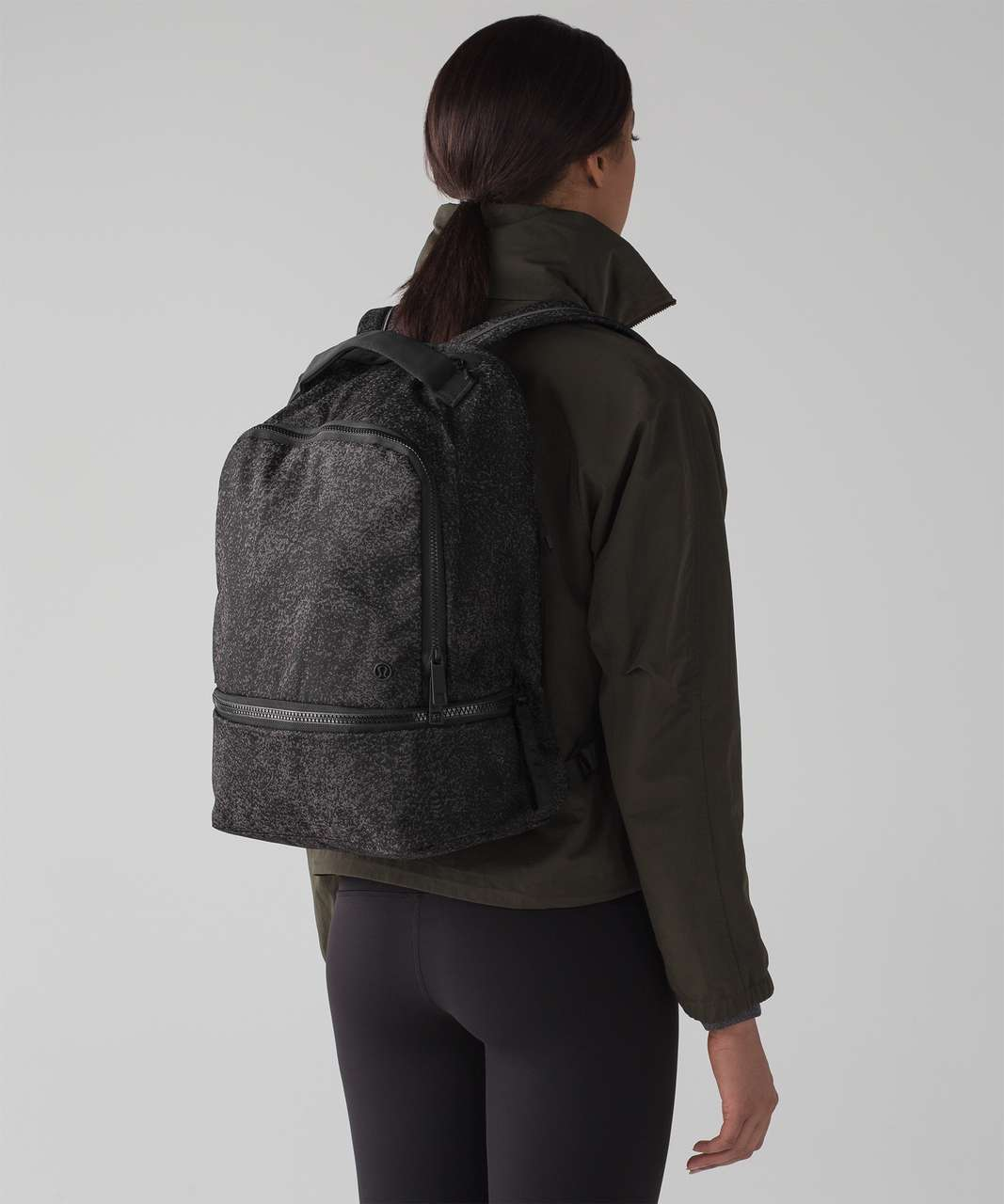 Lululemon City Adventurer Backpack 17L - Glo Wild Black Reflective