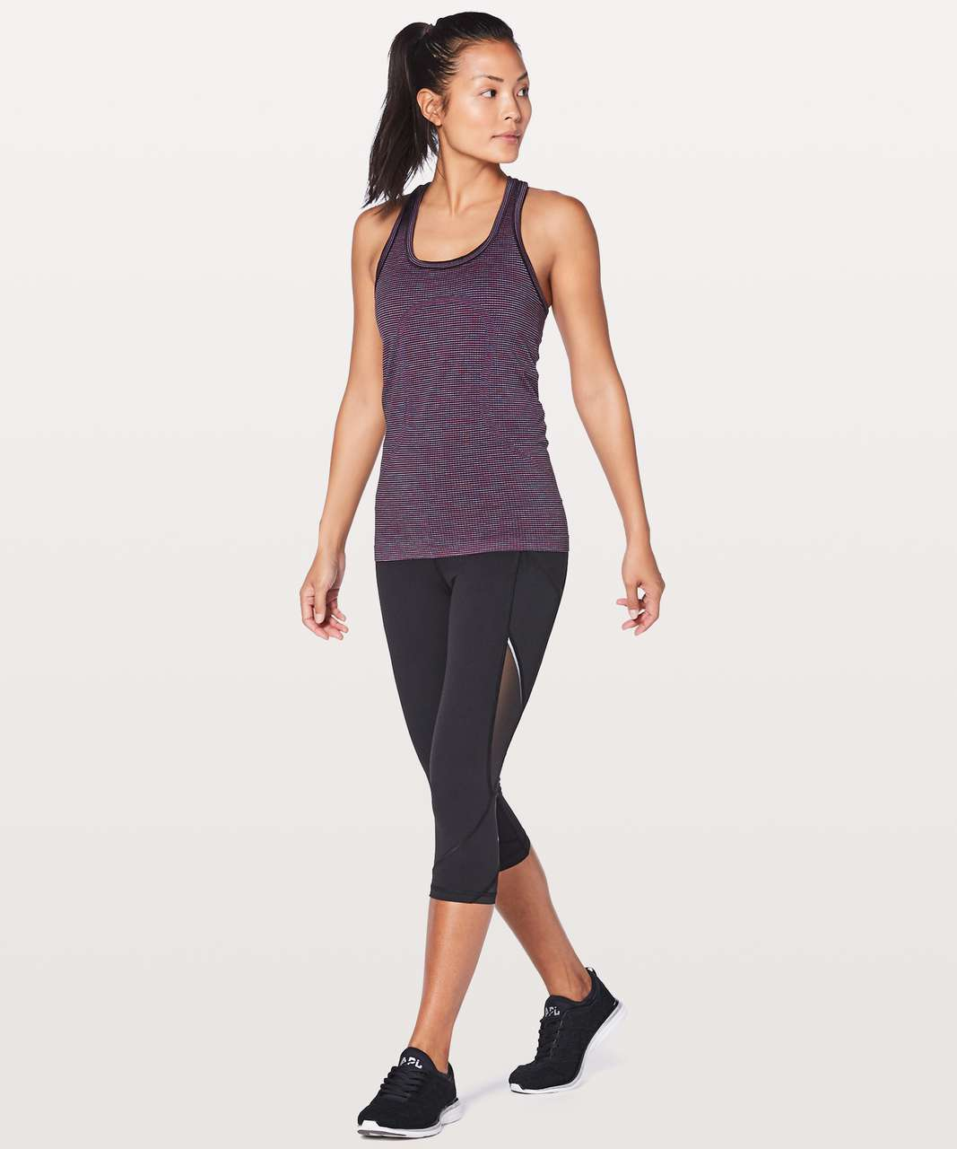 Lululemon Swiftly Tech Racerback - Pink Paradise / Black / Lavender / Blue