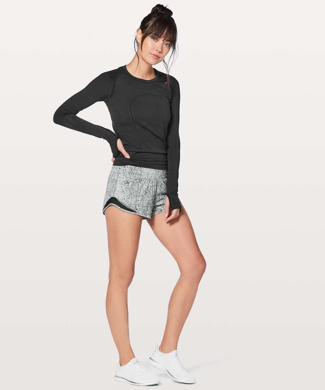 "Lululemon Hotty Hot Short II *2.5"" - Antiqued Starlight Black / Black"