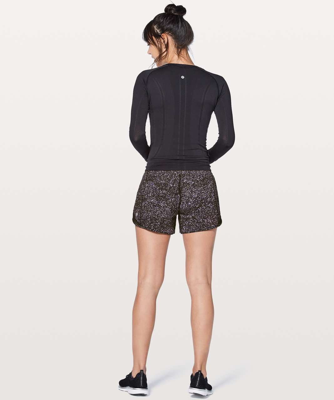 "Lululemon Hotty Hot Short II Long 4"" - Crystalline Multi / Black"